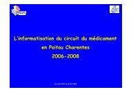 Informatisation circuit etat regional - OMEDIT Poitou-Charentes