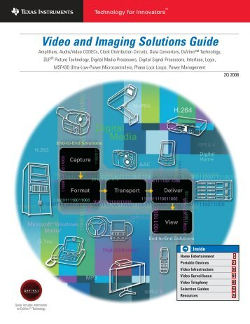 Video and Imaging Solutions Guide (Rev.D)