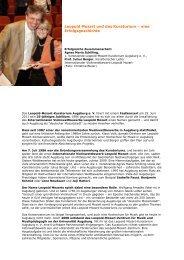 Leopold Mozart und das Kuratorium - Phil.-So. - Universität Augsburg
