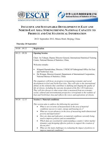 Programme - Subregional Office for East and North-East Asia - escap