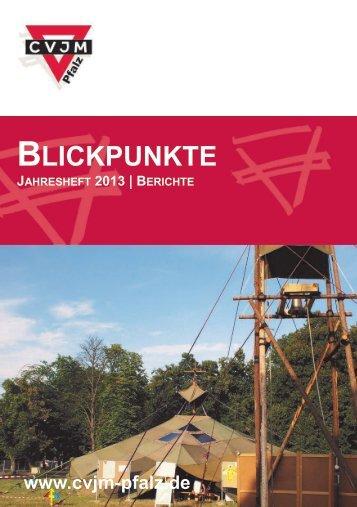 Ausgabe 2013 Jahresheft - CVJM Pfalz eV