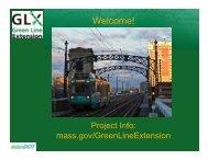 FEIR Public Meeting Presentation - June 30, 2010 - Green Line ...