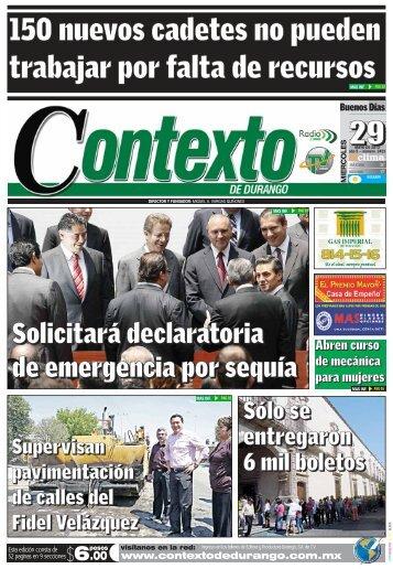 29/05/2013 - Contexto de Durango