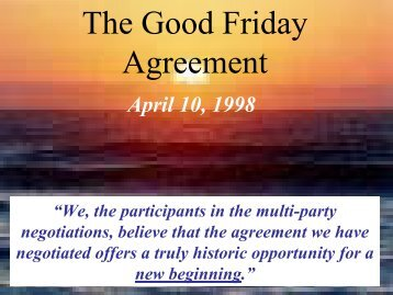 The Good Friday Agreement Powerpoint