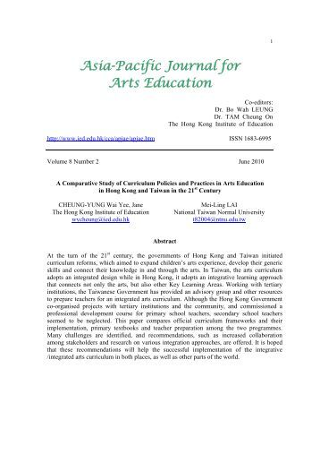 Vol 8 No 2 - The Hong Kong Institute of Education