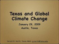 Texas and Global Climate Change - Vision North Texas