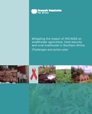 Mitigating the impact of HIV/AIDS on smallholder agriculture, food ...