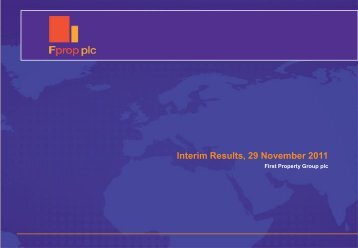 Interim Results 2011 - First Property Group plc