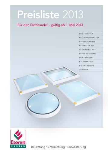 Preisliste 2013 - Eternit Flachdach GmbH