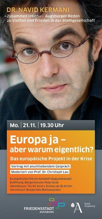 Europa ja - aber warum eigentlich? - Phil.-So. - Universität Augsburg