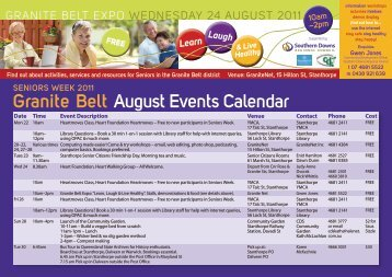 Granite Belt August Events Calendar - Southern Downs Regional ...