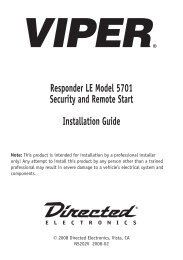 Responder LE Model 5701 Security and Remote Start Installation ...