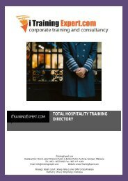 to download a copy of iTraining Expert's Hospitality Training Directory