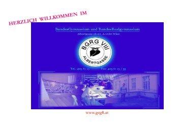 Informationen (PDF, ca. 2,5 MB) - BGRG VIII