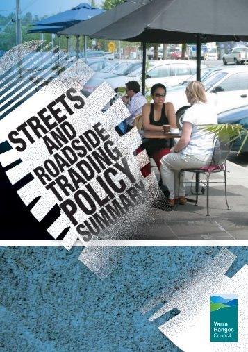 Footpath Trading Policy Summary - Shire of Yarra Ranges