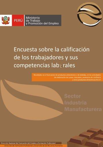 Boletin de Manufactura - Ministerio del Trabajo y Promoción del ...
