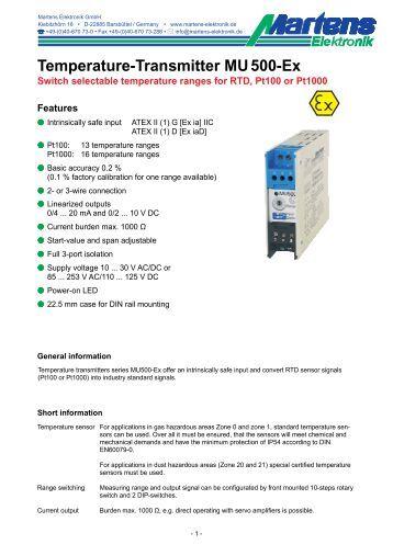 MU500Ex-01- Prospekt - Martens Elektronik GmbH