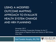 USING A MODIFIED OUTCOME MAPPING APPROACH TO ...