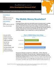 Research Brief: The Mobile Money Revolution? - AudienceScapes