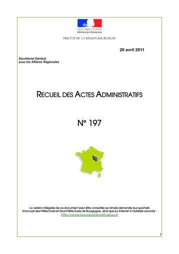 RAA 197 - Préfecture de la Côte-d'Or