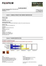 Chemwatch Australian MSDS 28-1159 - FUJIFILM Australia