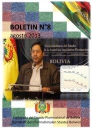 Boletín N°8 agosto 2013 Embajada del Estado ... - Bolivien