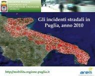 Incidenti stradali con lesioni in Puglia - CReMSS