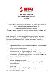 VSV Trainerfortbildung Silvretta Montafon, Gaschurn 1.12.2012 ...