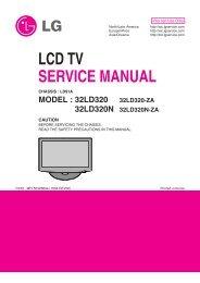 LED LCD TV SERVICE MANUAL