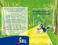 Energie sparen ist Klimaschutz! - SEL AG