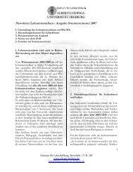 Newsletter Lehramtsstudium - Ausgabe Wintersemester 2006/07