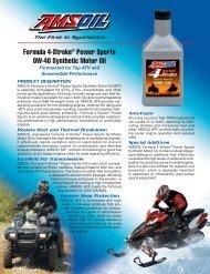 SAE 0W-40 Formula 4-Stroke Motor Oil - Synpsg