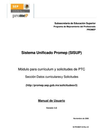 Manual de PTC's PROMEP