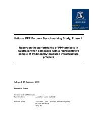 National PPP Forum – Benchmarking Study, Phase II Report on the ...
