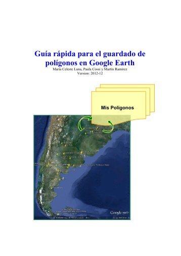 Guía rápida para el guardado de polígonos en Google Earth