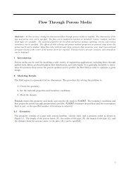 Flow Through Porous Media - PhilonNet Engineering Solutions