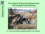 Engineering/Public Works - Feb 6, 6 pm - City of Port Alberni