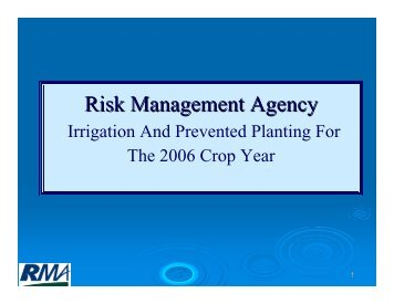 Prevented Planting in Drought - RMA USDA Risk Management ...