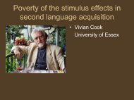 Poverty of the stimulus effects in second language acquisition