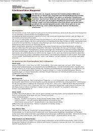 FilmSchauPlätze Wuppertal - Wuppertal Marketing GmbH