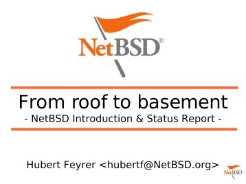 From roof to basement - Dr. Hubert Feyrer