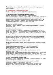 Doporučená literatura - Anatomický ústav 1.LF UK