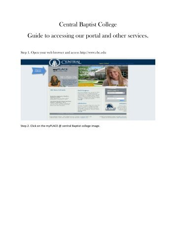 Central Baptist College Guide to accessing our portal and other ...
