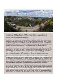 Mountain Biking South Africa Newsletter August 2012