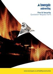 Fire & Security Quotation Request Form - Towergate Underwriting