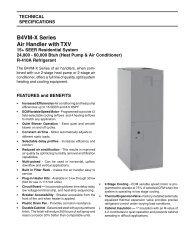 B4VM-X Series Air Handler with TXV - Nordyne