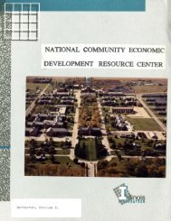 National Community Economic Development Resource Center