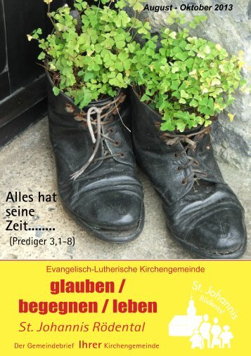 Gemeindebrief August - Oktober 2013 - St. Johannis Rödental-Oeslau