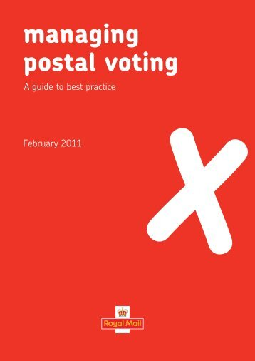 Manager or Postal Voting - Royal Mail