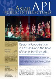 Regional Cooperation in East Asia and the Role of Public Intellectuals